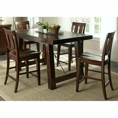 Liberty Furniture Tahoe Casual 5 Piece Counter Height Dining Set U0026 Reviews  | Wayfair