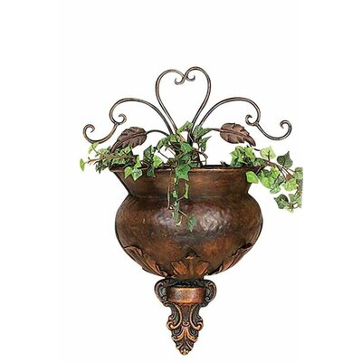 Metal Wall Planter woodland imports metal wall planter & reviews | wayfair
