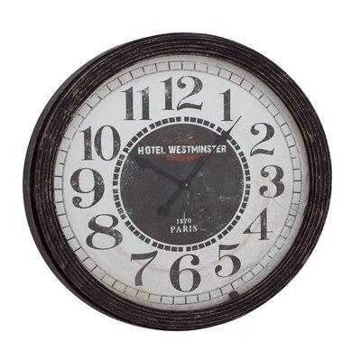 woodland imports oversized 31 quot wood wall clock reviews wayfair