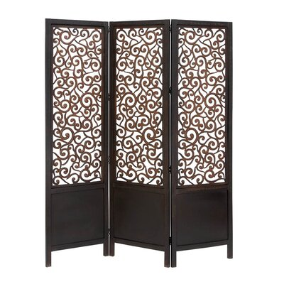 Woodland Imports 72 x 60 3 Panel Room Divider Reviews Wayfair