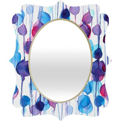 Turquoise Wall Mirror deny designs cmykaren abstract wall mirror & reviews | wayfair