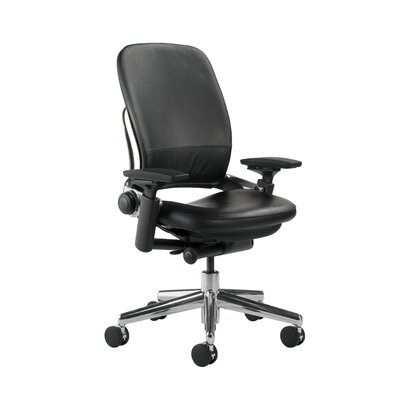 Leap Chair By Steelcase steelcase leap® high-back leather desk chair | wayfair