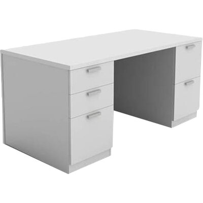 White Executive Desk With Drawers steelcase currency executive desk & reviews | wayfair