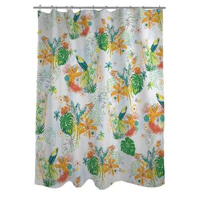 Curtains Ideas bird shower curtain : One Bella Casa Tropical Bird Shower Curtain | Wayfair