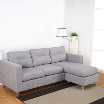 Mercury Row Leilani Reversible Chaise Corner Sofa Reviews