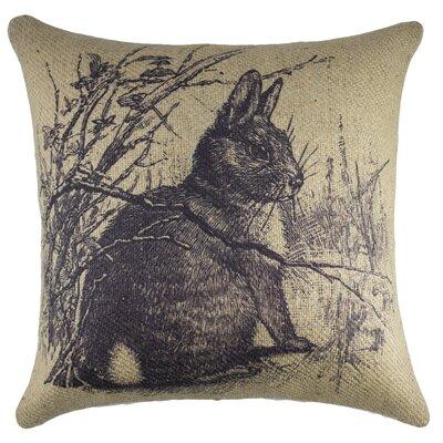 TheWatsonShop Rabbit Burlap Throw Pillow & Reviews Wayfair