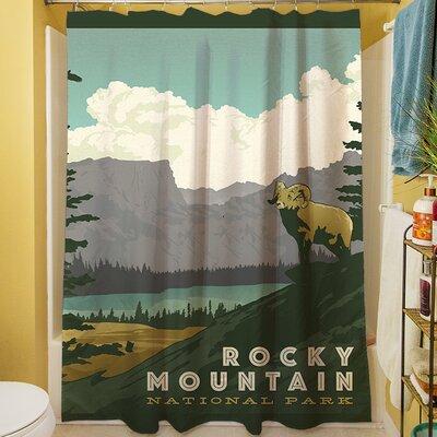 manual woodworkers u0026 weavers rocky mountain national park shower curtain u0026 reviews wayfair