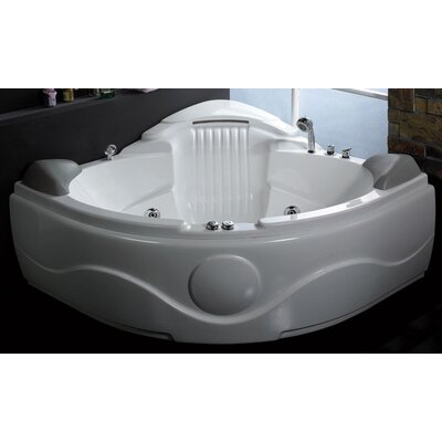 Delighted Fiberglass Bathtub Bottom Crack Repair Inlays Big Tile Designs Small Bathrooms Flat Bathroom Half Wall Tile Ideas Bathroom Shower Designs Old Bath With Door Elderly YellowPictures Of Gray And White Bathroom Ideas EAGO 61\u0026quot; X 61\u0026quot; Corner Waterfall Whirlpool Bathtub \u0026amp; Reviews | Wayfair
