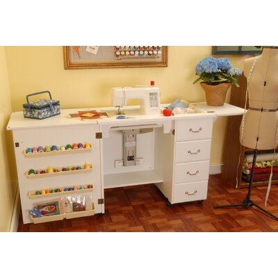 Arrow Sewing Cabinets Norma Jean Wooden Sewing Table U0026 Reviews | Wayfair