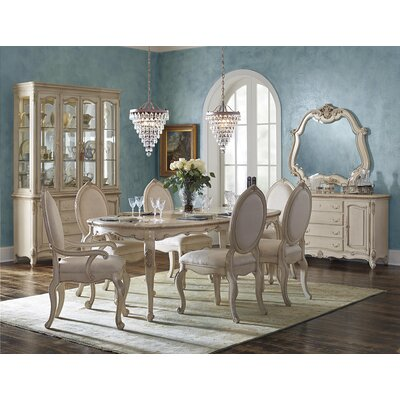 Michael Amini Lavelle Cottage Oval Dining Table   Reviews   Wayfair. Oval Dining Room Furniture. Home Design Ideas