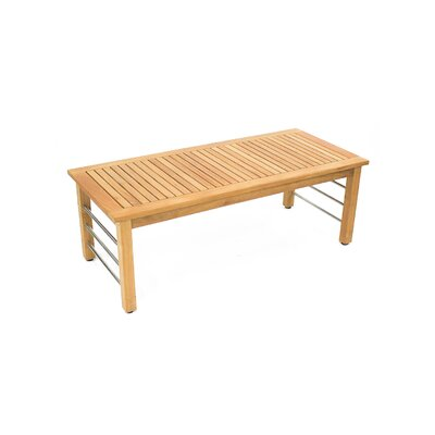 rosecliff heights bendel teak coffee table | wayfair
