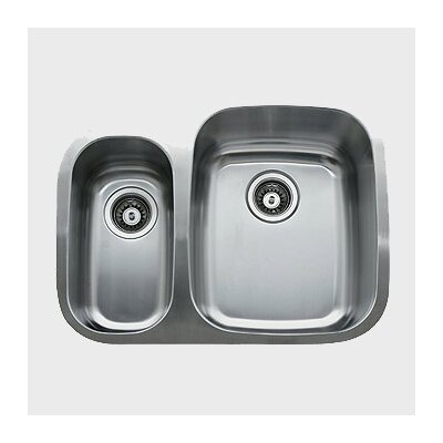 Ukinox 26 25 X 20 5 Double Bowl Undermount Kitchen Sink Reviews Wayfair