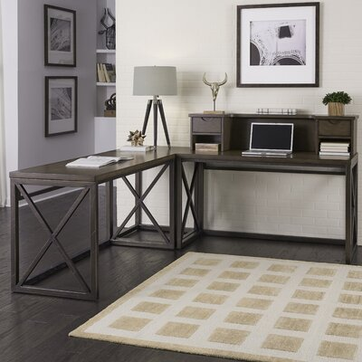 Desk Styles home styles xcel l corner desk with hutch & reviews | wayfair