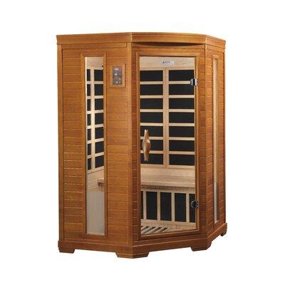 dynamic infrared 2 person corner carbon far infrared sauna u0026 reviews wayfair - Infared Sauna