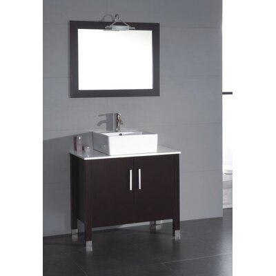 ivy bronx jessa 36'' bathroom vanity set with mirror | wayfair