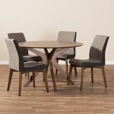 Mid Century Modern Dining Room Tables wholesale interiors kimberly mid-century modern wood round 5 piece