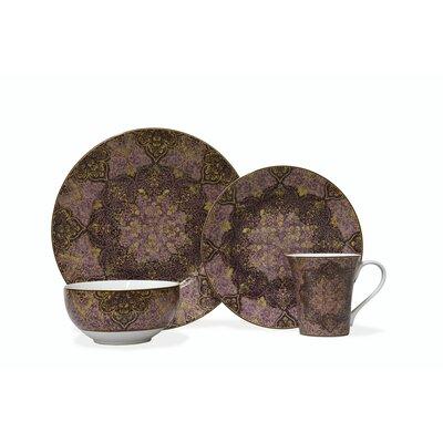 222 Fifth Eva Opulent Plum 16 Piece Dinnerware Set, Service For 4 U0026 Reviews  | Wayfair
