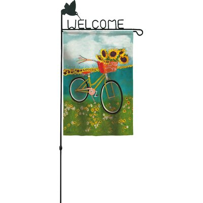 garden flag pole bulk home depot large stand evergreen welcome flagpole