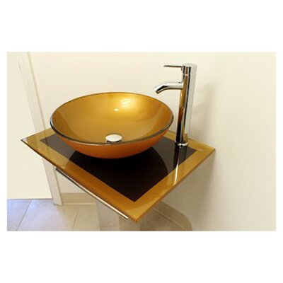 Kokols 24 Bathroom Vanity Set kokols circular vessel bathroom sink & reviews   wayfair