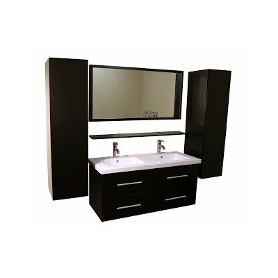 "Kokols 24 Bathroom Vanity Set kokols 48"" double bathroom vanity set with mirror & reviews   wayfair"