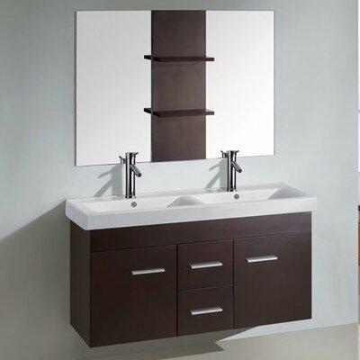 "Kokols 24 Bathroom Vanity Set kokols 47.3"" double floating bathroom vanity set with mirror"