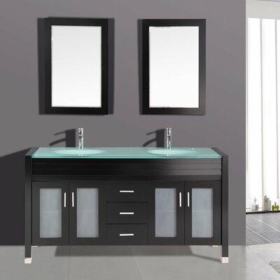 "Kokols 24 Bathroom Vanity Set kokols 63"" double bathroom vanity set with mirror & reviews   wayfair"