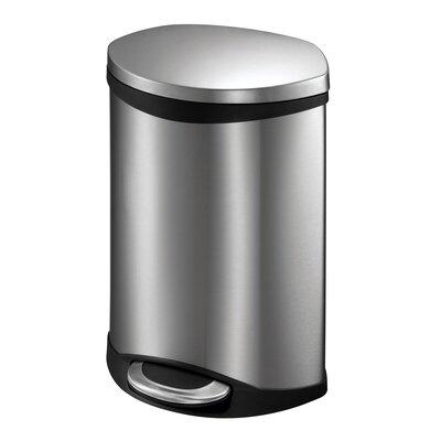 eko handsfree shell 15 gallon stepon stainless steel trash can u0026 reviews wayfair