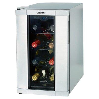 cuisinart 8 bottle reserve series single zone wine cooler u0026 reviews wayfair - Under Counter Wine Fridge