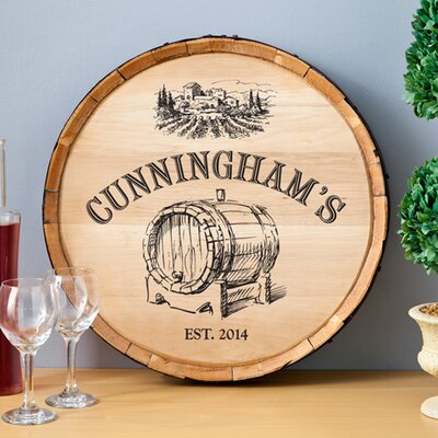 Wine Barrel Wall Decor jds personalized gifts personalized gift wine barrel home décor