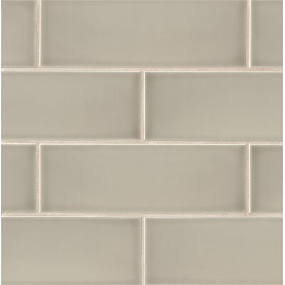 "Subway Tile gsmt leila 4"" x 12"" ceramic subway tile in taupe & reviews 