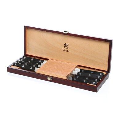 zwilling ja henckels twin gourmet steak knife set with wood case u0026 reviews wayfair - Henckel Knife Set