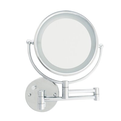 Wall Mounted Makeup Mirror With Lights danielle creations led wall mount makeup/shaving mirror & reviews