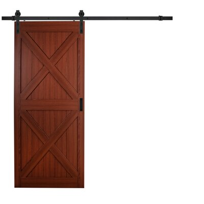 erias home designs continental mdf engineered wood 1 panel cherry laminate interior barn door wayfair - Erias Home Designs