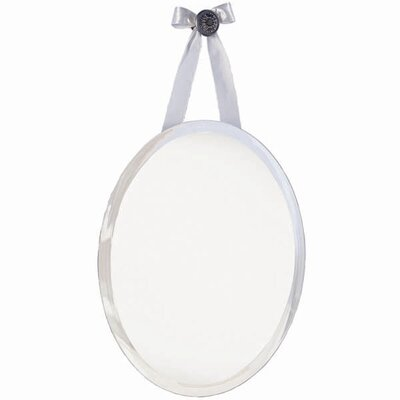 erias home designs mirage oval knob wall mirror with ribbon wayfair - Erias Home Designs