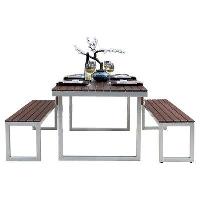 Elan Furniture Kinzie Outdoor Modern 3 Piece Dining Set U0026 Reviews | Wayfair