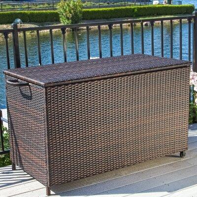 Home Loft Concepts Hampton 150 Gallon Wicker Deck Box Reviews Wayfair