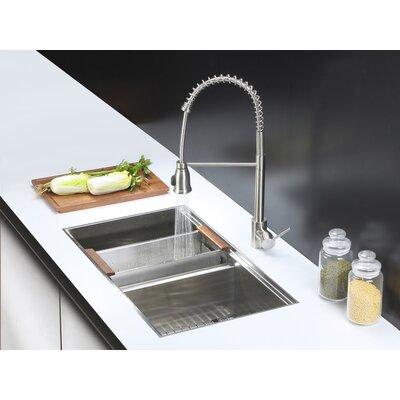 """ruvati roma 33"""" x 19"""" undermount double bowl kitchen sink"""