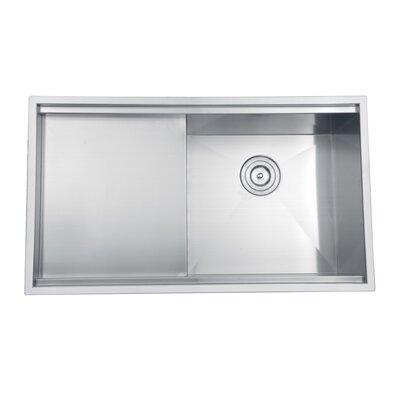 """ruvati roma 33"""" x 19"""" undermount single bowl kitchen sink"""