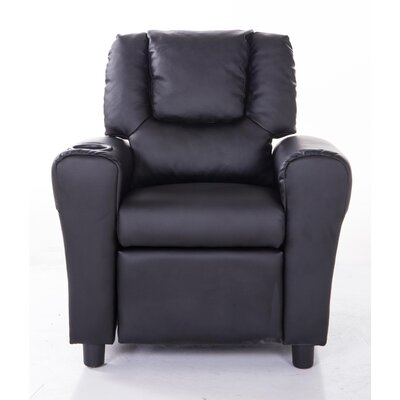 Mochi Furniture PU Leather Comfortable Kids Recliner with Cup Holder u0026 Reviews | Wayfair  sc 1 st  Wayfair & Mochi Furniture PU Leather Comfortable Kids Recliner with Cup ... islam-shia.org