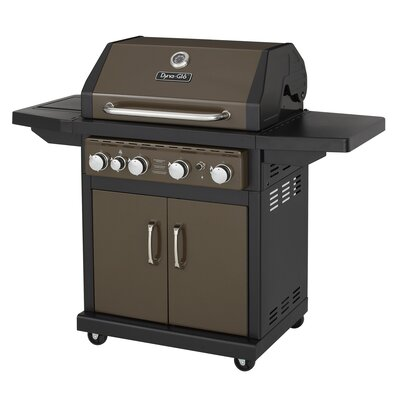 dynaglo 4burner propane gas grill with side burner u0026 reviews wayfair
