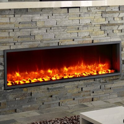 Dynasty 55 Built In Led Wall Mount Electric Fireplace Insert Reviews Wayfair