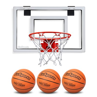 GoSports Basketball Door Hoop with 3 Premium Basketball and Pump | Wayfair