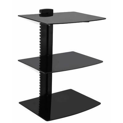 mount it floating wall mounted triple glass shelf bracket stand u0026 reviews wayfair
