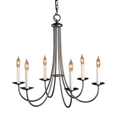 hubbardton forge simple sweep 6light candlestyle chandelier u0026 reviews wayfair - Hubbardton Forge