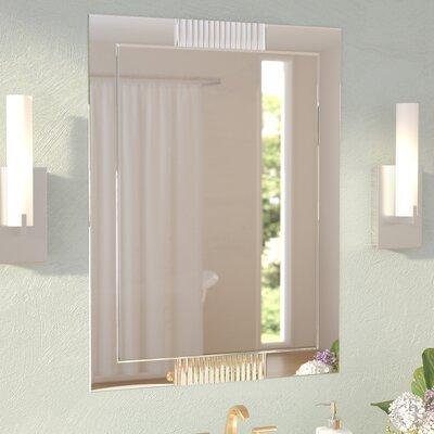 Contemporary Wall Mirror wade logan modern & contemporary metal wall mirror & reviews   wayfair