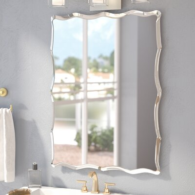 Frameless Wall Mirror wade logan redcliffe frameless wall mirror & reviews | wayfair