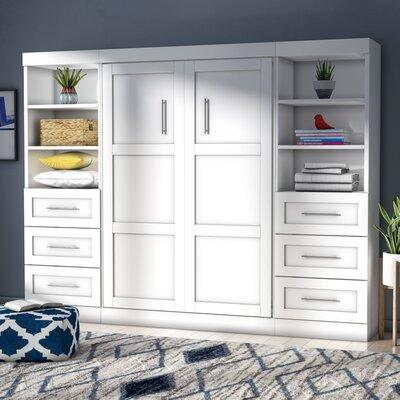 brayden studio walley full murphy bed & reviews | wayfair