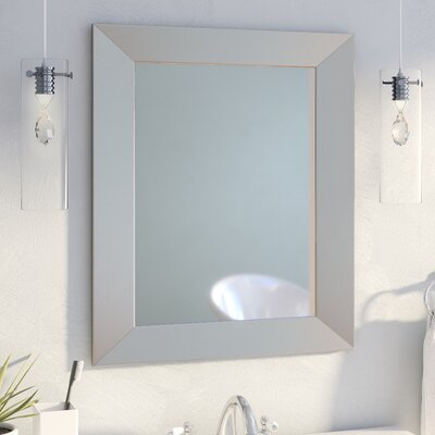 Mercury Row Modern Rectangle Wood Wall Mirror Reviews