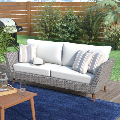 Langley Street Newbury Patio Sofa With Cushions U0026 Reviews | Wayfair