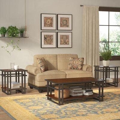 world menagerie amskroud 3 piece coffee table set & reviews | wayfair